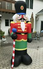 8 Foot Winter Wonder Lane Inflatable Nutcracker w/ LED Lights Christmas Lawn