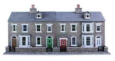 METCALFE CARD KIT OO PO275 LOW RELIEF TERRACED HOUSE FRONTS STONE METP0275