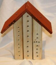 More details for wooden insect bee house natural wood bug hotel shelter garden nest box 23cm