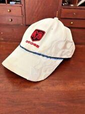 Dodge Vintage Tan Cap Baseball Hat Dodge Ram logo in Black on a red back NASCAR