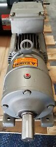 """NEW SEW 3/4 HP 3 PHASE  GEAR MOTOR  /  DFT80K4   23.37:1 RATIO  1"""" DIA OUTPUT"""