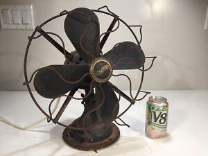 """Vintage Antique 1920's Westinghouse 315734A Micarta 4-Blade 12"""" Desk Fan Project"""