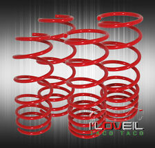 "Jdm Toyota Corolla 84-87 Ae86 2"" Drop Suspension Lowering Coil Springs Set Red"
