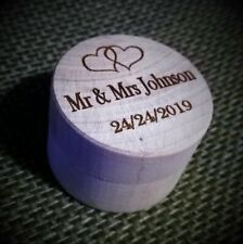Wooden Wedding Ring Box Gift Box - Personalised Text