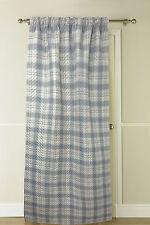 Country Club Thermische Tür Vorhang Tartan 117 x 213cm Grau Natürlich 117x213cm