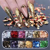 Mirror Glitter Sequins Nail Art Paillette Flakes Manicure DIY Nail Powder Tip