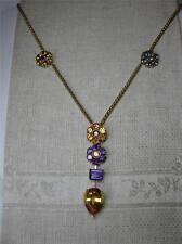 Chimento 18K Necklace Tanzanite Citrine Amethyst Peridot Jewels Estate Jewelry