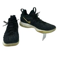 Nike Lebron 15 XV Low Top Sneakers Men's Size 13 Black Metallic Gold Basketball