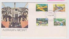 (ICF115) 1981 AU FDC 4set Australian aircraft (H)