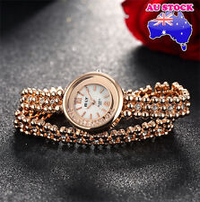 Ladies Watch18K Gold Dial With  Swarovski Diamond  Double Wrap