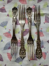 "4 Reed & Barton FRANCIS I Sterling Silver 7 1/4"" Dinner Forks Old Mark No Mono's"
