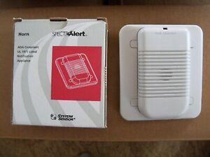System Sensor Spectralert White Wall Mount Horn H12/24W - Alarm 12 or 24 Volt