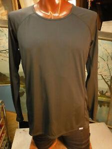 Patagonia Capilene top Blouse woman's L shirt euc lightweight black long sleeve