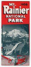 1956 MOUNT RAINIER MT Washington State TRAVEL Brochure TOURISM National Park NPS