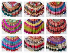 5 MIXED Tribal Gypsy Belly Dance Sari Peasant Boho Skirt Skirts Banjara Folk