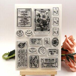 Vintage Label Clear Rubber Stamps For DIY Scrapbooking Paper Craft Decoration