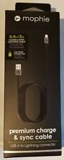 Mophie 3 Meter (9.9ft) PRO MFI Lightning Cable for iPhone iPad, Brand New in Box