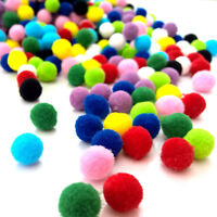 Assorted 10mm Pom Poms ~ High Quality Polyester Pompoms ~ in packs of 50 to 500