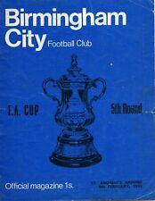 Birmingham City v Man Utd - Season 1968/69 - Football Programme