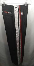 Fubu Athletic NBA Black Red White Snap Off Basketball Warmup Pants Large VTG Men