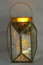 Barbara King Outdoor Safe Mercury Glass Lantern w/Flameless Candle RTL$40