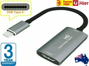 NEW Type-C HDMI Video Capture Card USB3.1 Game Video / Audio Live Streamer AUS
