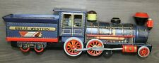 Vintage 60s Great Western Tin Toy Train Made in Japan Battery Operated 19""