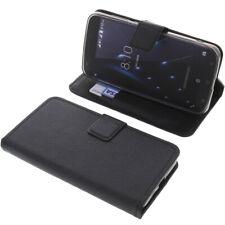 Tasche für Blackview A7 Pro Book-Style Schutz Hülle Handytasche Buch rau Schwarz