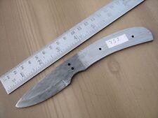 "7"" custom made hunting Damascus steel knife blank blade raindrop 752 a"