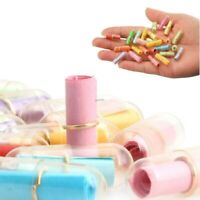 100 x Message In A Bottle Capsule Letter Love Friendship Wish Notes Party U.K