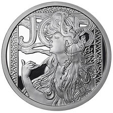 Alphonse Mucha Collection 1 OZ PROOF SILVER JOB #1 IN SERIES #COA Licensed