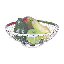 Paderno  Corbeille | Corbeille à fruit ovale 27,5cm - Inox 18/8