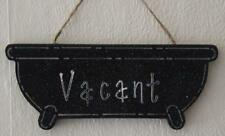 Decorative Handcrafted Wooden Silver on Black ENGAGED / VACANT Sign