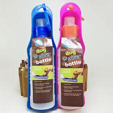 Portable Foldable Plastic Feeding Bowl Dog Cat Travel Pet Water Bottle Hot USHU
