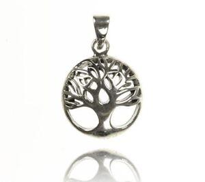 Lebensbaum Baum Silberanhänger, Kettenanhänger Baum des Lebens, 925 Silber 12224