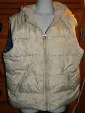 ABERCROMBIE & FITCH A&F WOMENS OUTERWEAR DOWN PUFFER HOODED WHITE VEST ZIP UP