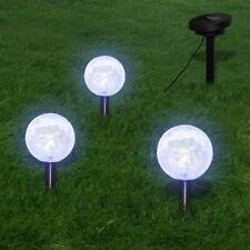 vidaXL 3x Lámparas de Suelo LED de Energía Solar de Jardín Luces Forma de Bola