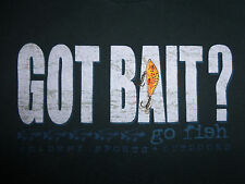 """Got Bait? Go Fish"" Academy Sports & Outdoors Black Graphic Print T Shirt - S"