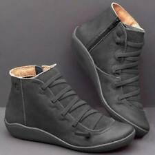 Fashion Womens Boots Ladies Low Boots Ankle Boots Flat Shoes S3