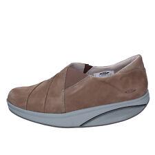 womens shoes MBT 8 (EU 42 1/3) loafers beige nabuk performance AB447-42,3