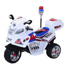 HOMCOM  Moto scooter électrique pour enfants modèle policier fonctions sirène et