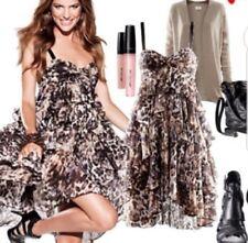 H&M ANIMAL PRINT RUFFLE LAYERED DRESS SIZE 8 BNWT rrp$49.95