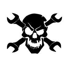 STICKER TETE DE MORT / AUTO COLLANT TETE DE MORT / SKULL STIKER / TUNNING