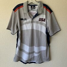 USA Rugby BLK mens XL polo shirt NWOT