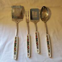Vintage Vegetable EKCO Brand Spatulas Spoon Kitchen Fork Set of 4
