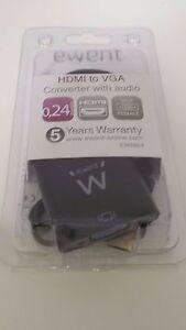 ADAPTADOR ewent HDMI to VGA