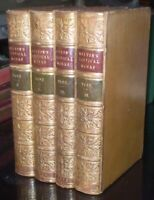 1842, THE POETICAL WORKS OF JOHN MILTON, 4 Volume Set, FINE LEATHER BINDINGS