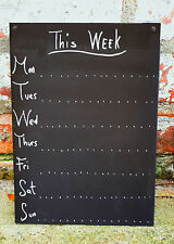 Shabby Chic Weekly Planner A4 Chalkboard Ornate 30cmx21cm Memo Board Blackboard