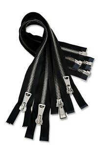 Official Lewis Leathers Early 2000 Deadstock CLIX Nickel Metal Zips Black