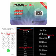 1x iDeal Unlock Turbo Sim Card GPP for iPhone 7 8 5S 5C SE 6S Plus 5 LTE IOS 11